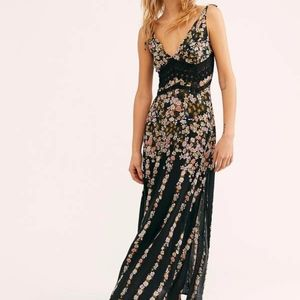 Free People Claire Printed Maxi Slip
